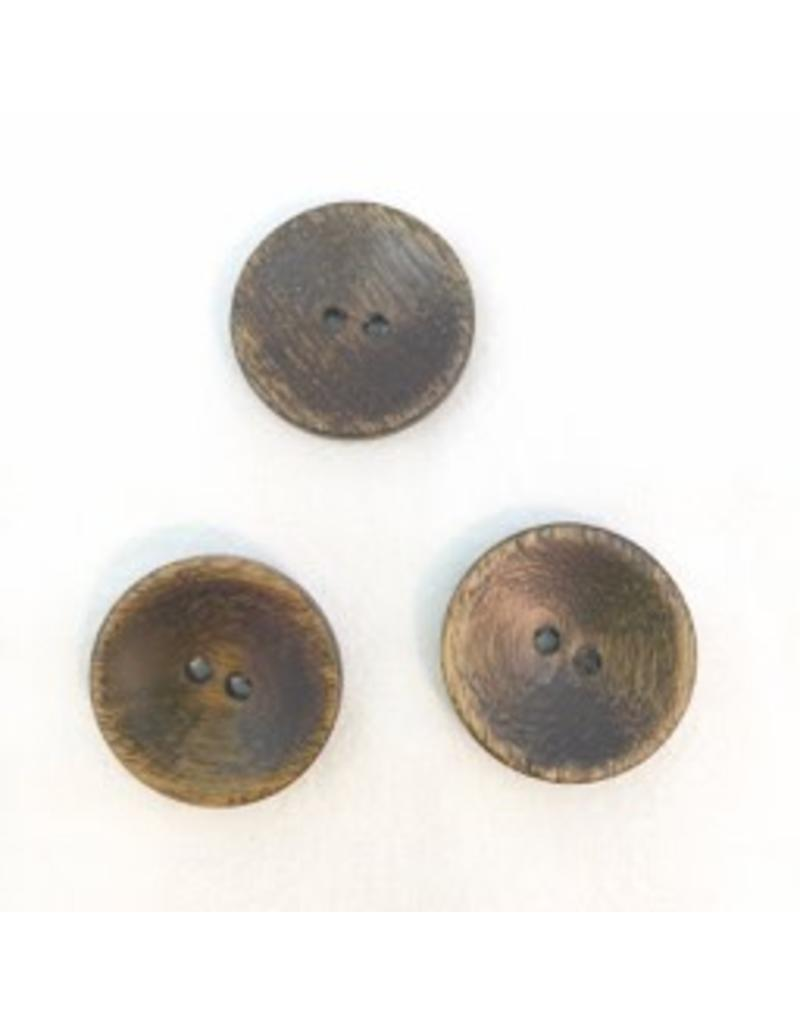 "Buttons, Etc. *Buttons - Wood, round, Brown, 1"". 2.25cm"