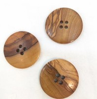 "Buttons, Etc. *Buttons - Wood, Round, 1/2"", 4cm"