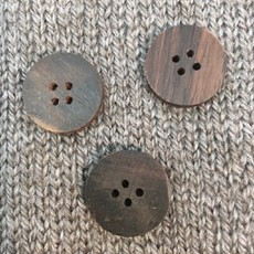 "Art of Yarn *Buttons - Wood, Round, Brown, 3/4"". 2cm"