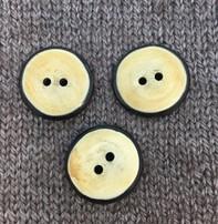 """Renaissance/Blue Moon *Buttons -  Horn, 1"""", 2.5cm"""