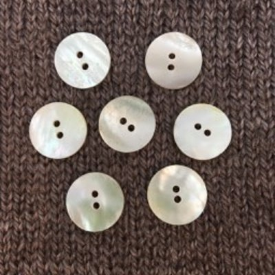 "Art of Yarn *Buttons - Shell, Small Round, 1/2"", 1.5cm"