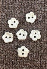 """Dill Buttons *Buttons - Polyamid Pearl Flower, 1/2"""", 1.25cm"""