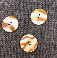 "Art of Yarn *Buttons - Shell, Tiger Shade, 7/8"", 2cm"