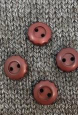 "Art of Yarn *Buttons - Corozo, Brown Flower. 1/2"", 1.25 cm"