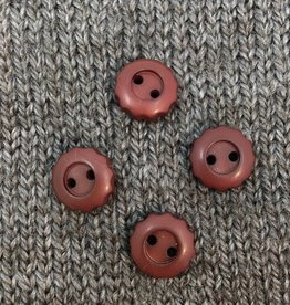 "Art of Yarn *Buttons - Corozo, Brown Flower. 1/2"", 1.25 cm"