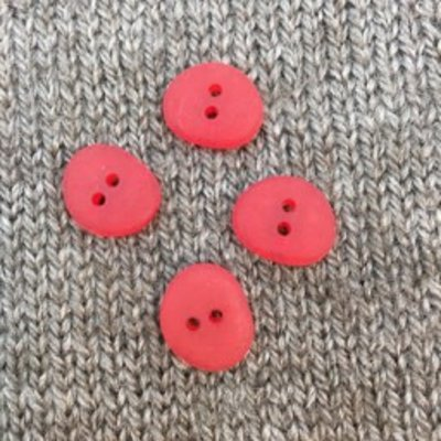 "Buttons Etc *Buttons - Corozo, Oval Red Gumdrop, 5/8"", 1.5cm"