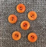 """Buttons, Etc. *Buttons - Corozo, Orange, 1/2"""", 1.5cm"""