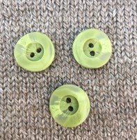 "Dill Buttons *Buttons - Polyamide, Light Green, 3/4"", 2cm"