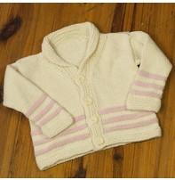 Appalachian Appalachian Baby Designs - Hill & Holler Cardigan Kit In Natural & Pink