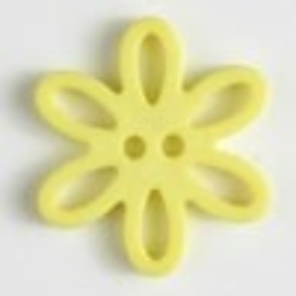 Dill Buttons Buttons - Flower Yellow (28 mm)
