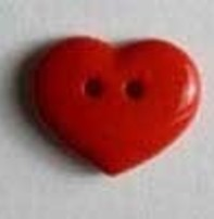 Dill Buttons Buttons - Heart Red (18mm)