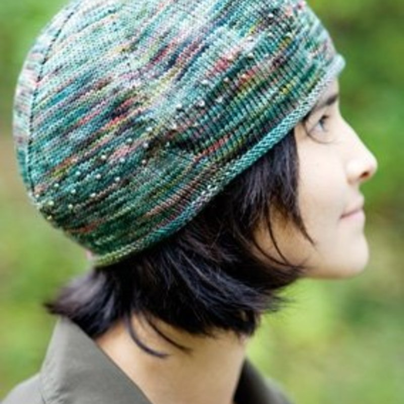 Churchmouse Yarns & Teas Koigu Beaded Beret