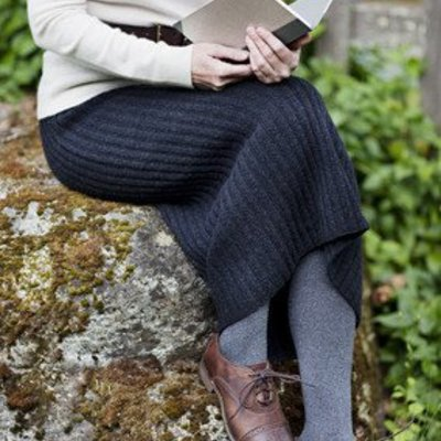 Churchmouse Yarns & Teas Ribbed Pencil Skirt