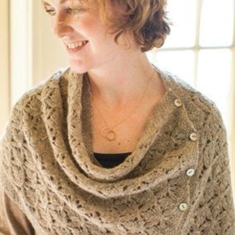 Churchmouse Yarns & Teas Smocked Lace Wrap & Shrug