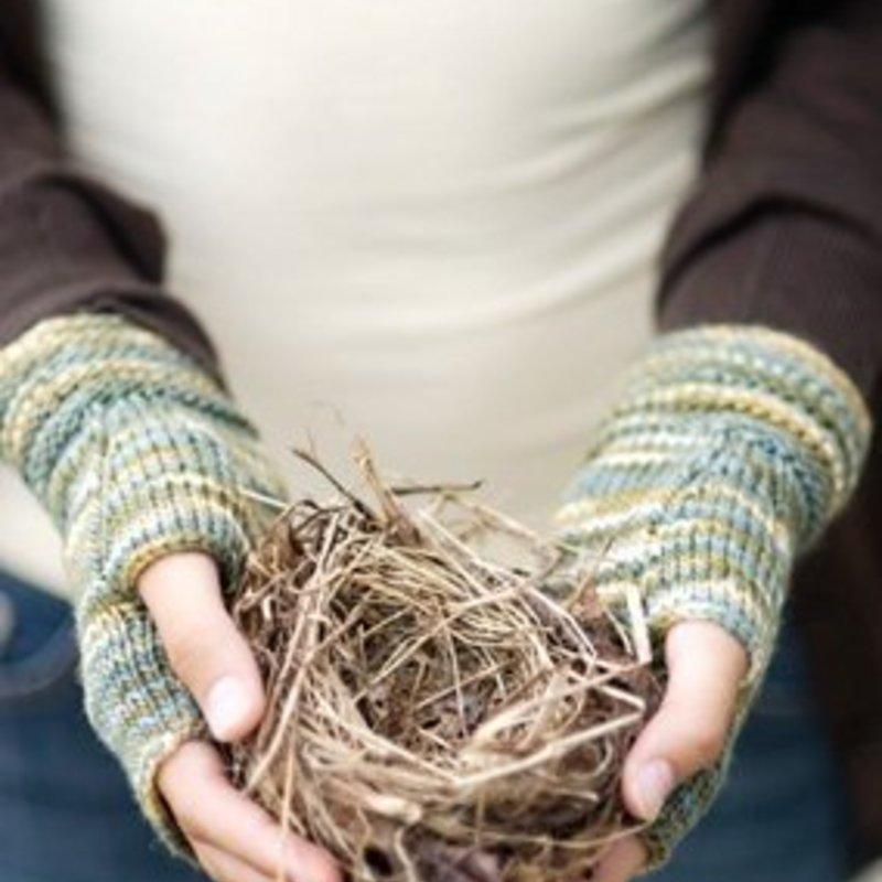 Churchmouse Yarns & Teas Welted Fingerless Gloves