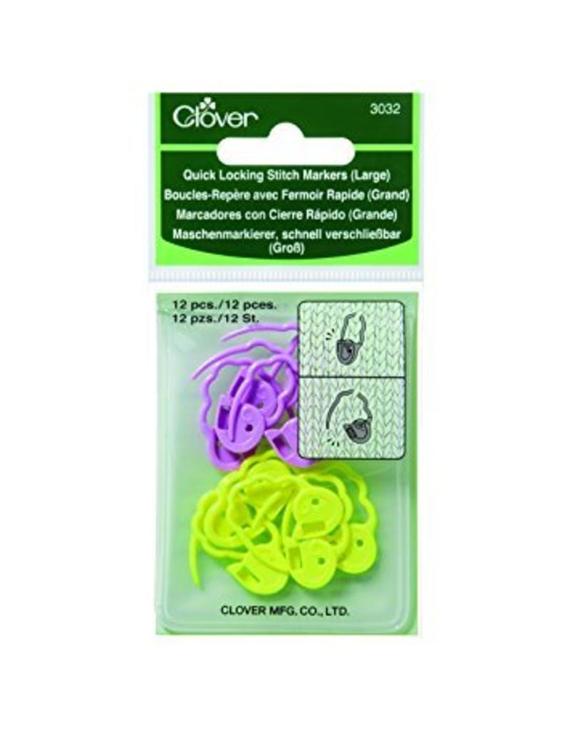 Clover Clover Quick Locking Stitch Markers, Large (3032)