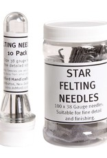 Harmonique Felting Needles - Pack Of 10 Size 38 Star