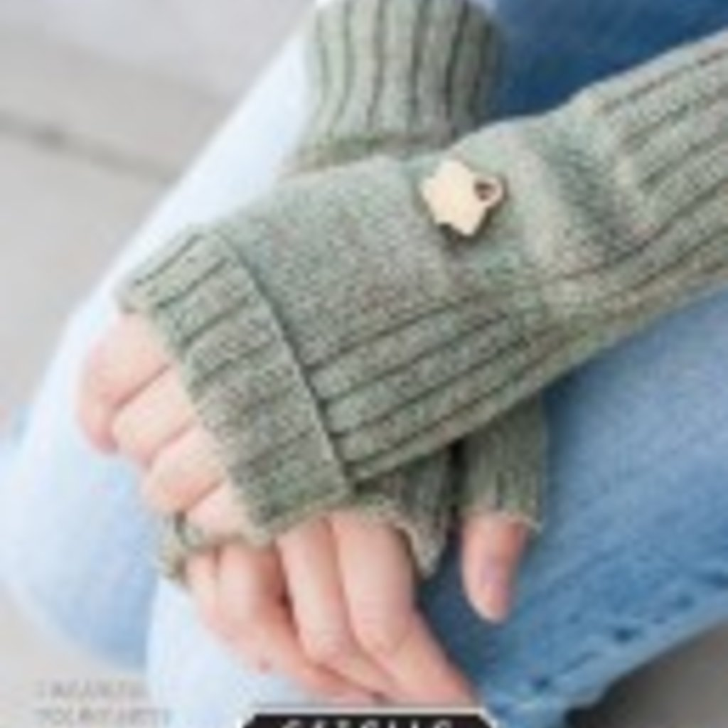 Estelle Fingerless Pocket Mitts - Free Pattern