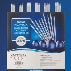 Knitter's Pride Nova Platina Double Pointed Sock Set (5'')