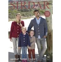 Sirdar Sirdar Design - Harrap Tweed Chunky Jackets For The Family