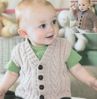 Sirdar Sirdar Design - Snuggly Dk Cabled Sweater Or Vest