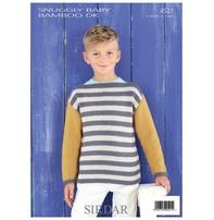 Sirdar Sirdar Design - Striped Pullover In Baby Bamboo
