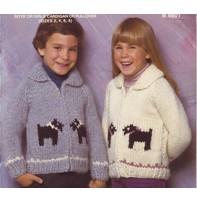 Art of Yarn Vintage Pattern* - Children Sweater With Motif (PDF)