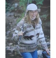 Art of Yarn Vintage Pattern* - Cowichan Style Jacket With Black Bear (PDF)