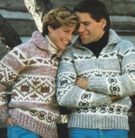 Art of Yarn Vintage Pattern* - Cowichan Style Sweater Style With Geometric Design (PDF)