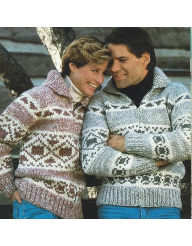 Art of Yarn Vintage Pattern* - Cowichan Style Sweater Style With Geometric Design (PDF)