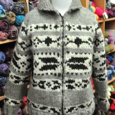 Art of Yarn Vintage Pattern* - Cowichan Style Sweater With Arrowhead Design (PDF)
