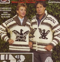 Art of Yarn Vintage Pattern* - Cowichan Style Sweater With Eagle (PDF)