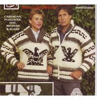 Art of Yarn Vintage Pattern* - Cowichan Style Sweater With Eagle (PDF)