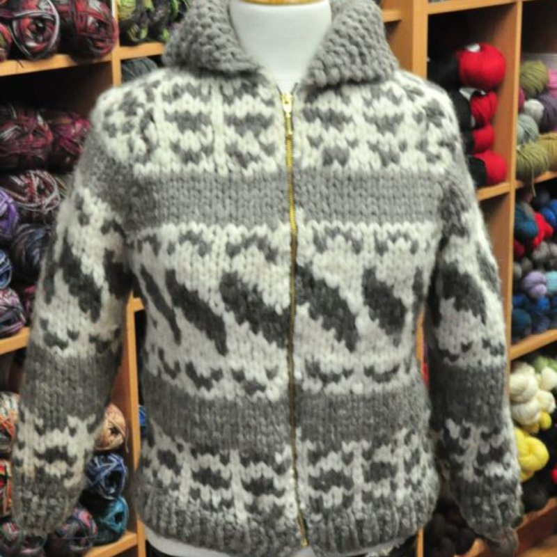 Art of Yarn Vintage Pattern* - Cowichan Style Sweater Youth Sizes (PDF)