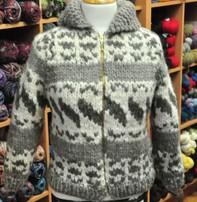 Art of Yarn Vintage Pattern* - Cowichan Sweater Style 6-R (Adult Sizes) (PDF)