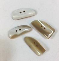 """Buttons, Etc. *Buttons - Shell Shark Tooth, 1 1/2"""", 3cm"""