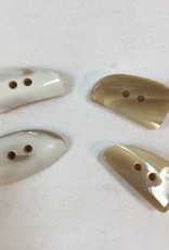 "Buttons, Etc. *Buttons - Shell Shark Toot, Natural,  1"", 2.5cm"