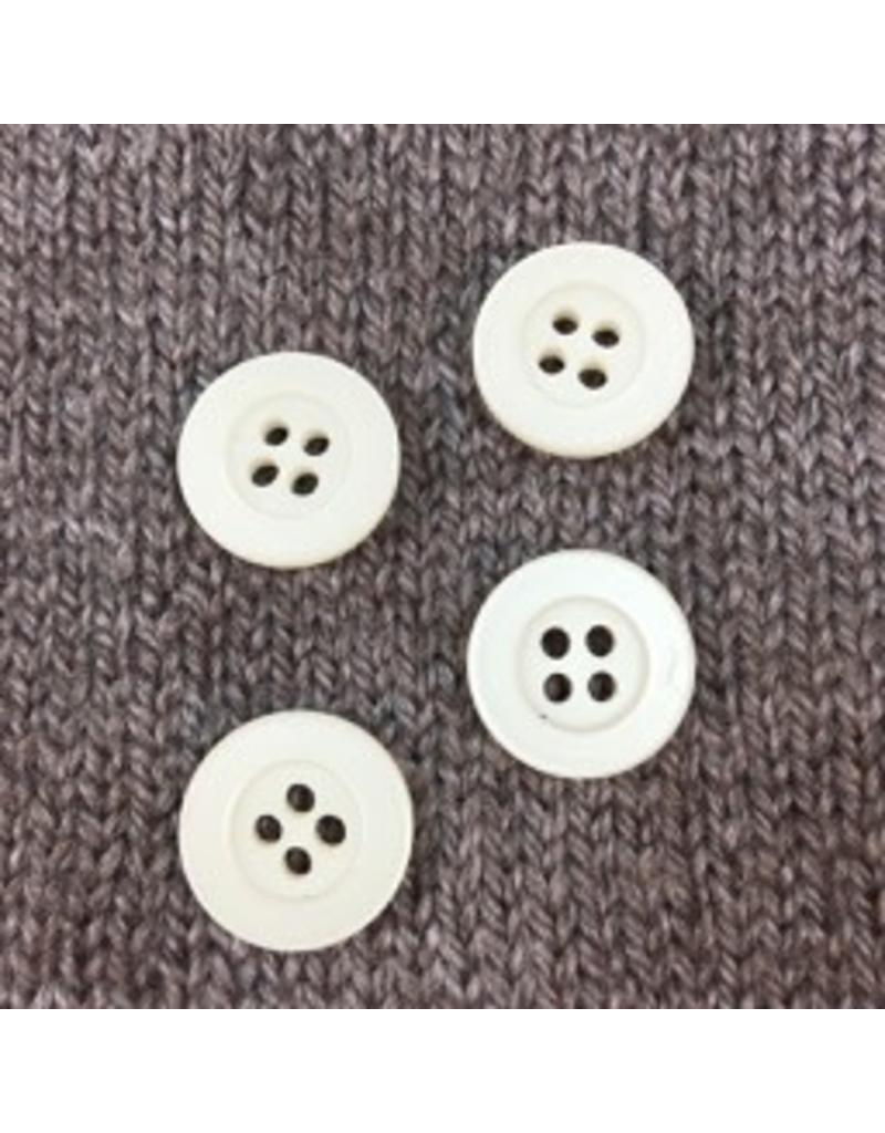 """Dill Buttons *Buttons - Polyamide, Ivory, 3/4"""", 1.5cm"""