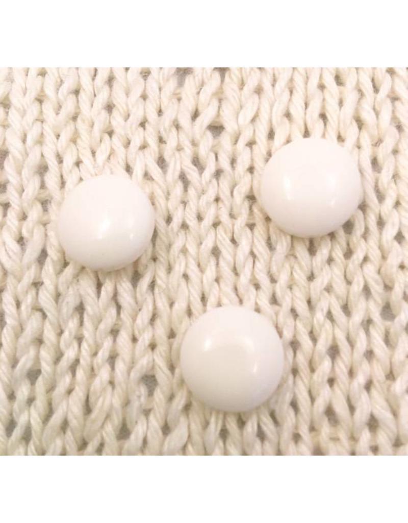 "Buttons Etc *Buttons - Polyamide, White Gem, 1/2"", 1.25 cm"