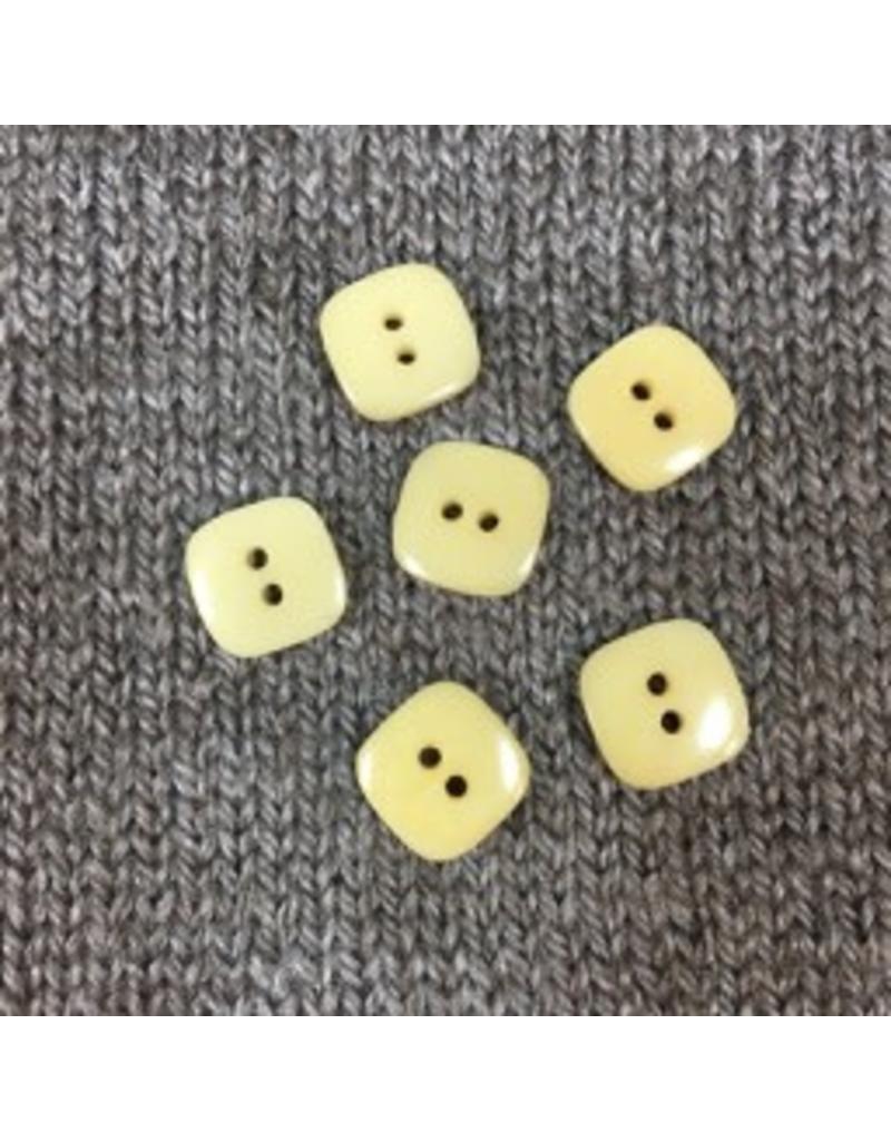 """Buttons, Etc. *Buttons - Corozo natural, Square, 1/3"""", 1.25cm"""