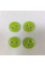 "Buttons, Etc. *Buttons - Lookout, Lime, 5/8"", 1.5cm"
