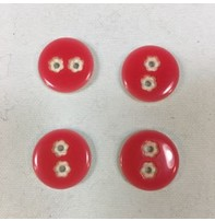 """Buttons, Etc. *Buttons - Starry Eyes, Red, 3/4"""", 2cm"""