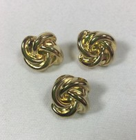 "Dill Buttons *Buttons - Full Metal Gold, 5/8"", 1.2cm"