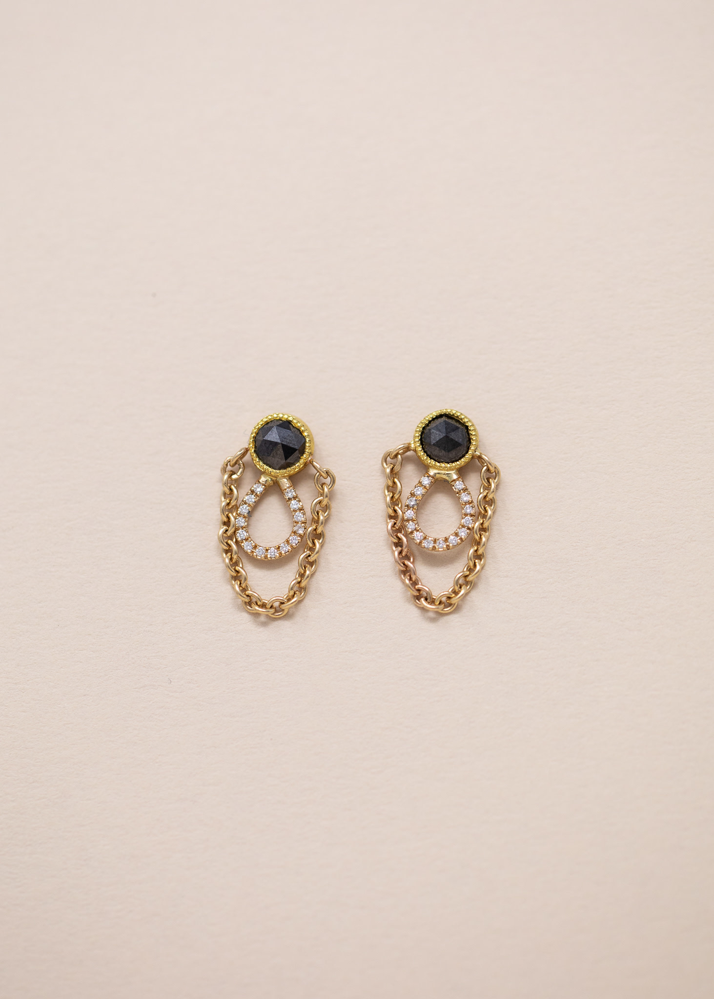 Asrai Garden Elizabeth Street Black Diamond Earrings Asrai Garden