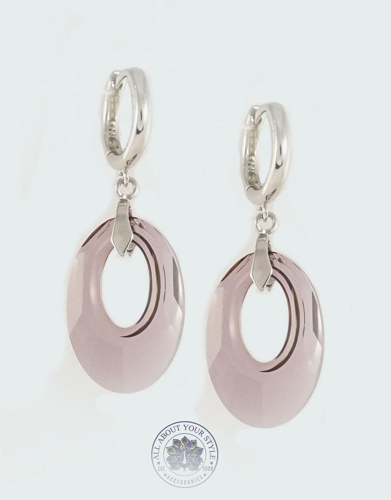 Dazzled Swarovski Crystal Hoop Earrings