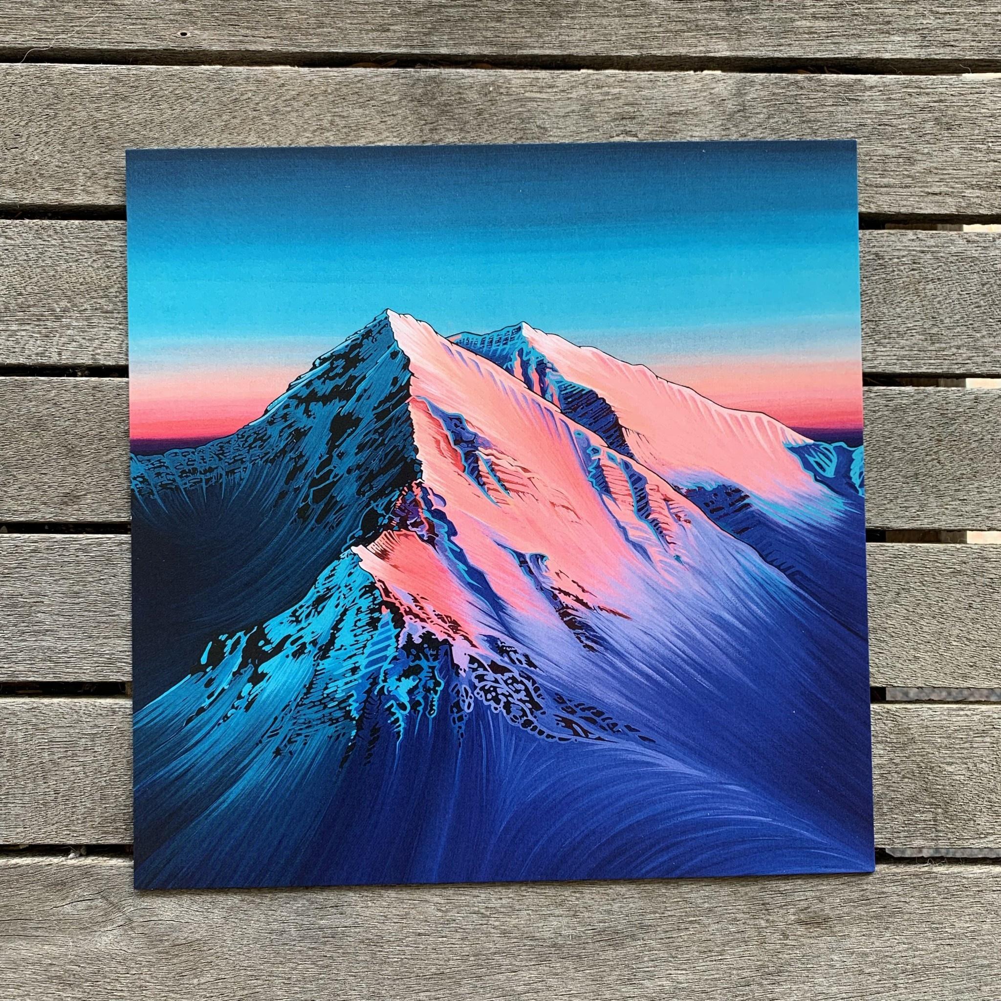 """Hayley Stewart Art Hayley Stewart - Alpen Glow 8""""x8"""" Print"""