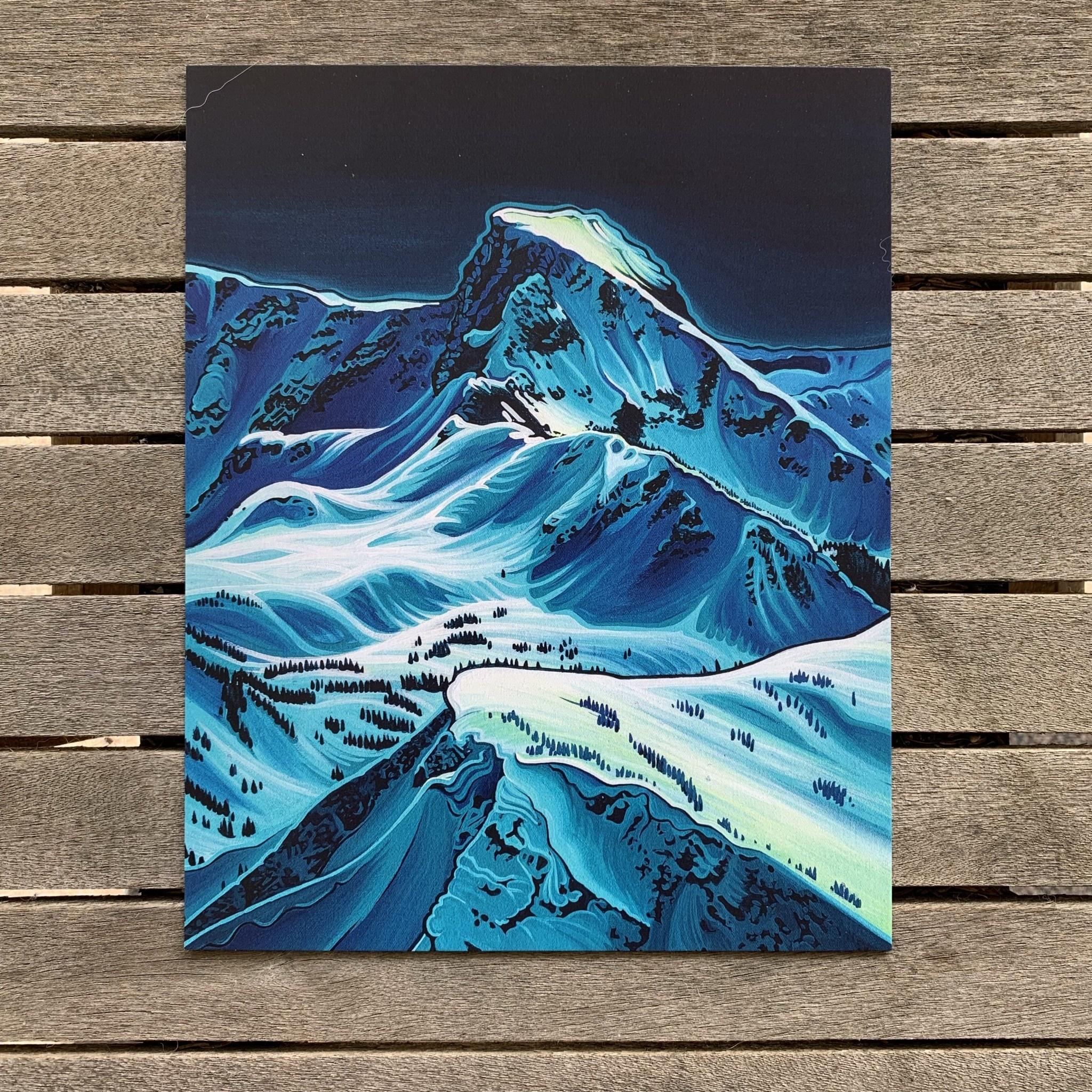 """Hayley Stewart Art Hayley Stewart - Ghost Peak 8""""x10"""" Print"""