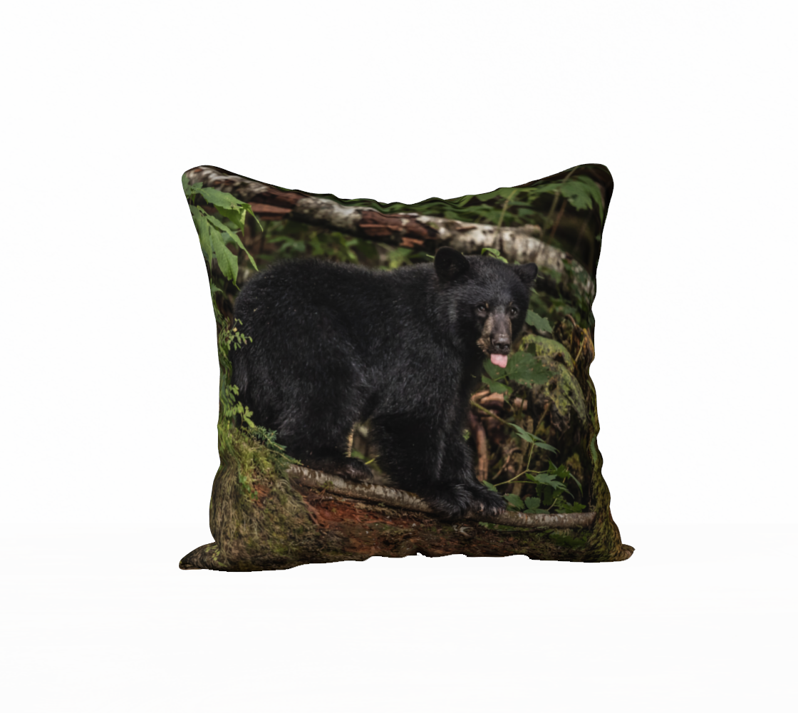 Back To Nature Back To Nature - Mischievous Bear Cub Pillow Case