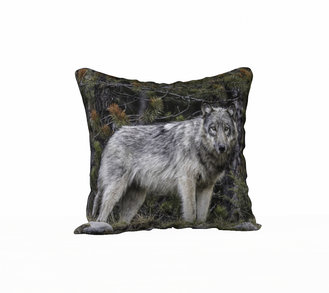 Back To Nature Back To Nature - Grey Wolf Pillow Case