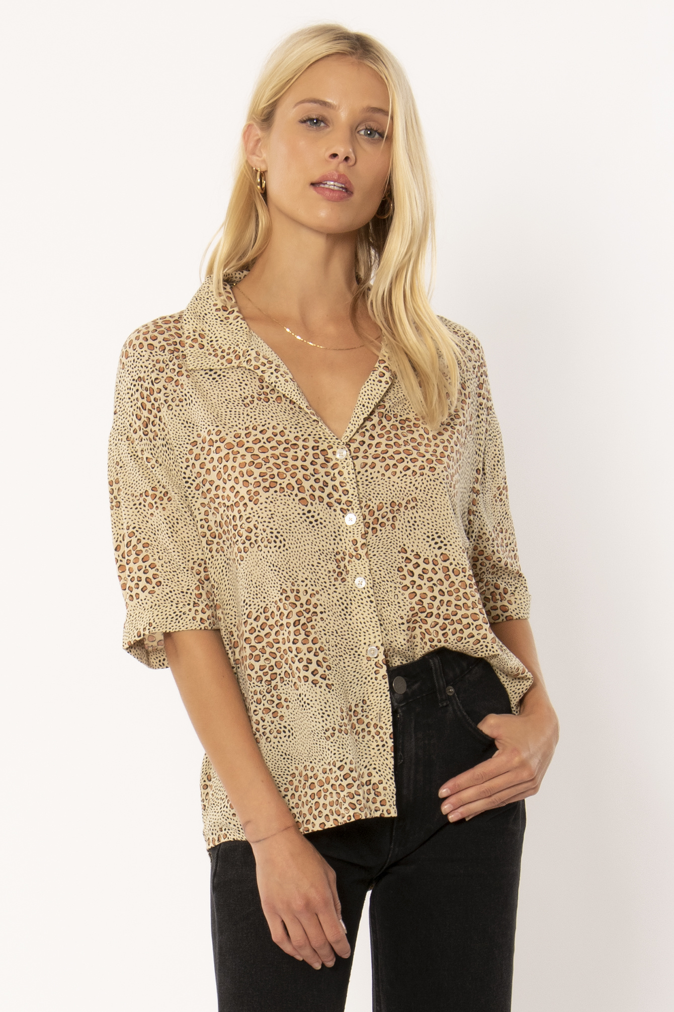 Amuse Society Amuse - Wildcat Woven Blouse - Natural